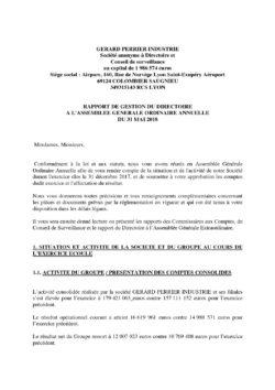 rapport gestion directoire