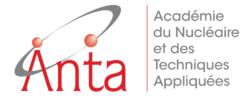 anta logo académie du nucléaire et des techniques appliquées